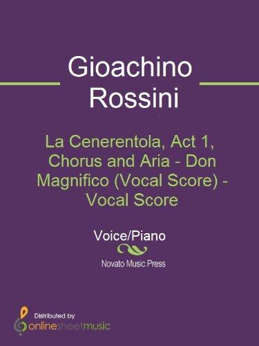 La Cenerentola, Act 1, Chorus and Aria - Don Magnifico (Vocal Score)