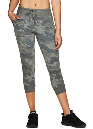 RBX Active Women's Camo Print Jogger Capri Sweatpants Camo Green XL