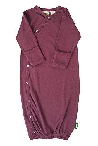 Parade Organics Essential Kimono Gown Plum Newborn/0-3 Months (Gown Cotton Baby)