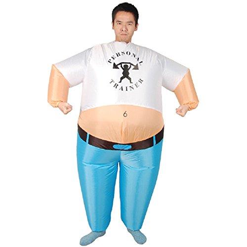 LOLANTA Unisex Women Men Popeye Inflatable Costume Halloween Blow up Fancy Dress]()