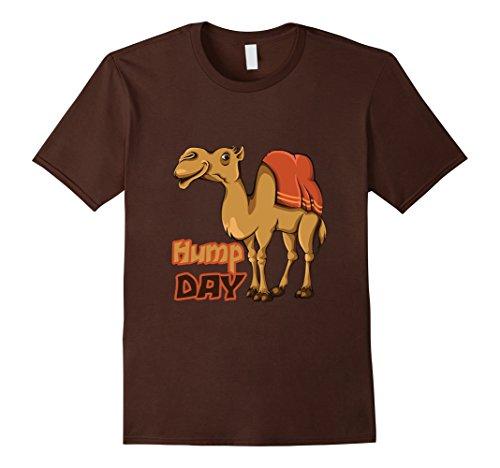 Men's Happy Hump Day Camel Toe Wednesday Cute Funny Work Tee Shirt Medium Brown