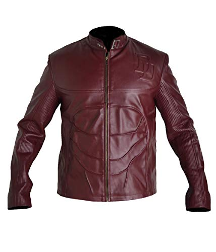 (Stormwise Men's Real Leather Daredevil Fashion Jacket Sheep Burgundy XX-Large)
