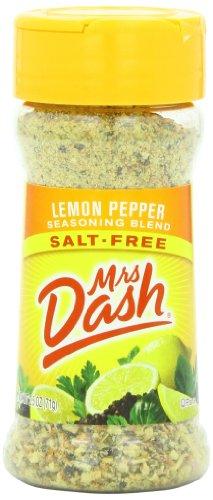 Pepper Zesty Lemon (Mrs. Dash Seasoning Blend, Lemon Pepper, 2.5 Ounce (Pack of 12))