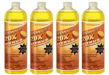 ADVANAGE 20X Multi-Purpose Cleaner Citrus 4 Pack - Manufacturer Direct - Save $$ - 20X is Our Newest Formula! by ADVANAGE 20X Wonder Cleaner