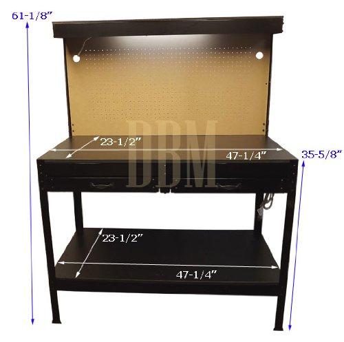 Multipurpose Workbench Cabinet Light Garage Workstation Tool Holder Storage by Generic (Image #2)
