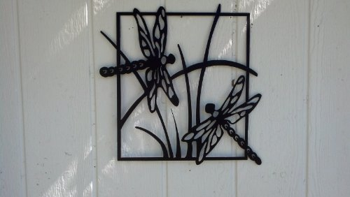 Amazon.com: Dragonfly Scene Metal Wall Art: Home U0026 Kitchen