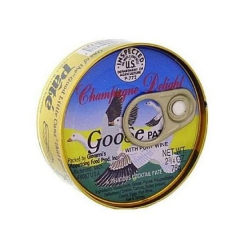 Giovanni's Food Products Inc Pate, Goose, 3.40-Ounce ()