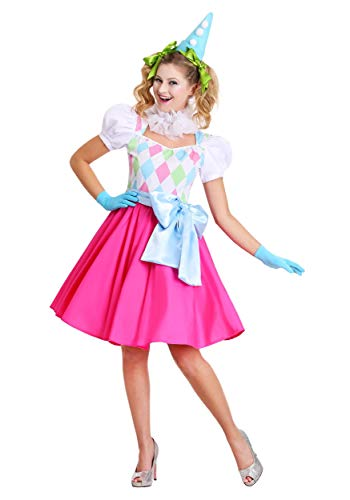 (Cotton Candy Clown Womens Costume Medium)