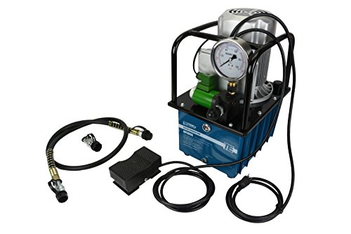 TEMCo HP0006 - Electric Hydraulic Pump Power Pack Unit 2 Stage Single Acting 120v 10k psi 488 cubic in Capacity - 5 YEAR Warranty