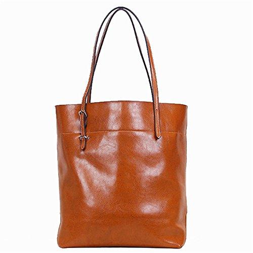Hombro Práctico Dama De Negro Gwqgz Y Shopping Simple Casual Brown Bolso Bag n7AWxz