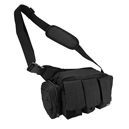(ProCase Responder Bag, Versatile Tactical Range Bail Out Bag Police Gear Patrol Bag for Shooting, Hunting and Other Outdoor Activities -Black)