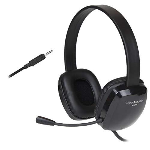 [해외]단방향 노이즈 캔슬링 마이크가 있는 스테레오 헤드셋. PC의 맥 크롬 북 마이크로 소프트 표면 태블릿 스마트 폰과 대부분의 게임 시스템과 호환 (AC-6008) / Stereo Headset with Unidirectional Noise-Canceling Microphone. Compatible with PC`s...