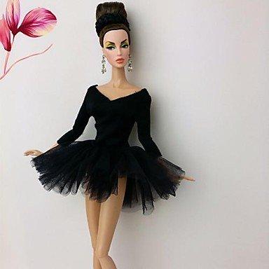 barbie-puppe-schwarzen-schwan-ballettkleid