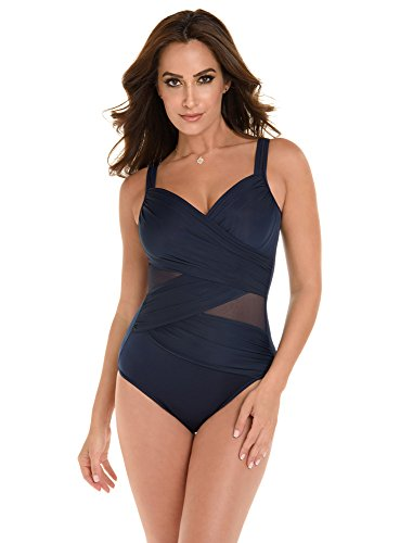 (Miraclesuit Women's Madero DD Cup One-Piece Midnight Blue 14)