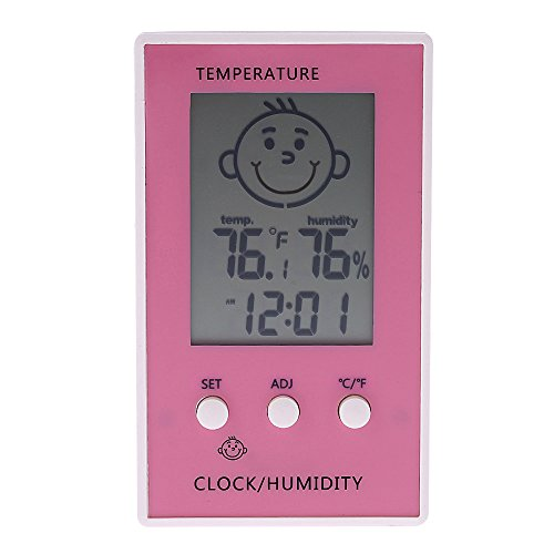 (Mengshen Digital Hygrometer Thermometer, Temp Humidity Meter Gauge Monitor for Home/Office/Baby Room - TH05, Pink)