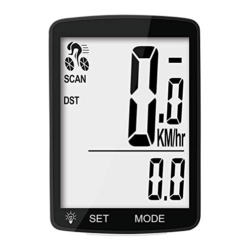 Nellvita NWP-7 Multi Function Wireless Bicycle Cycling Computer Waterproof Bike Speedometer Odometer with 3'' Large LCD Display