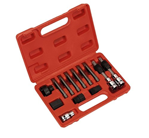 GrecoShop Kit chiavi manutenzione puleggia/alternatore 13 pz in valigetta