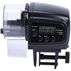 Auto Aquarium - Automatic Fish Feeder Aquarium Tank Pond Auto Timer Food Black Capacity Adjustable Abs Electronic - Off Feeder Top Cleaner Vacuum