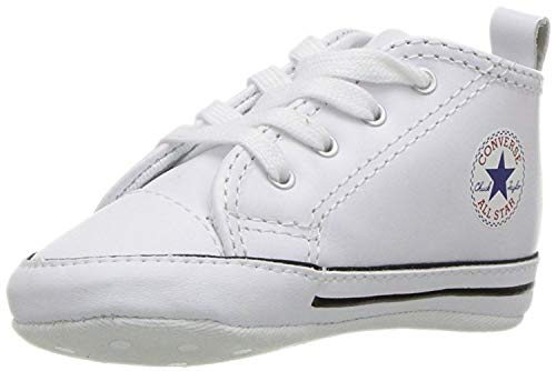 Converse First Star Crib Shoe - Converse Kids' First Star High Top Sneaker, White, Size 1 M Us Infant