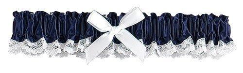 Hortense B. Hewitt 73047 Wedding Accessories Ribbon and Lace Garter, Midnight