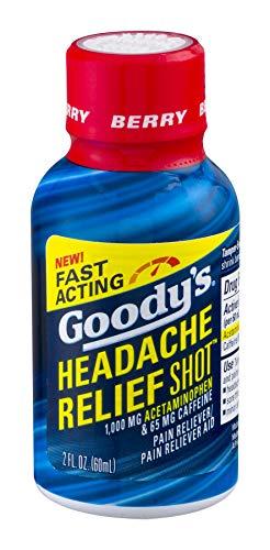 Goody's Headache Relief Shot | Acetaminophen & Caffeine | Berry Flavor | 2 FL OZ