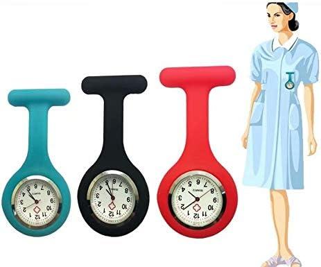 Affaire infirmière de silicone Docteur Tunique Montre Broche