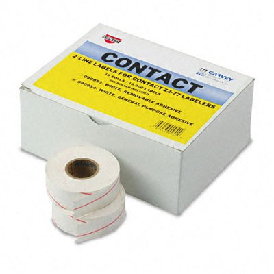Contact Labeler (COS090954 - Garvey Contact 22-77 Labelers 2-Line White Labels)