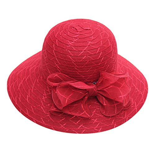Ladies Sunscreen Hat,Pengy Rose Flower Hat Casual Cap Bridal Tea Summer Vocation Hat for Women