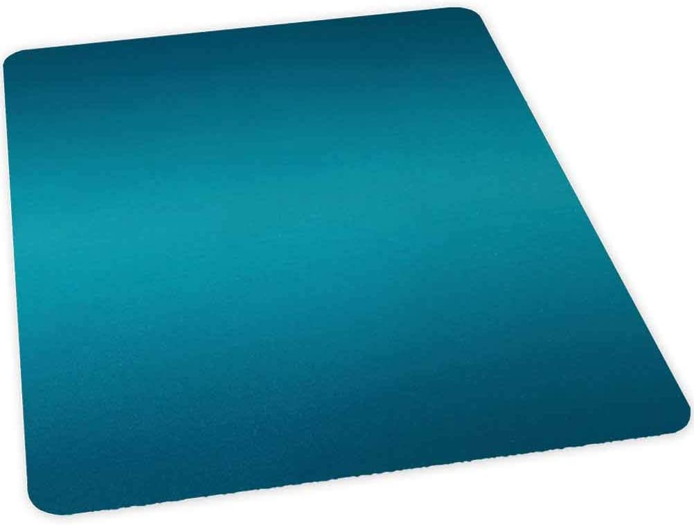 "Home Office Chair Mat, Deep Blue Tropical Ocean Exotic Lands Inspired Design Mode, 35"" x 47"" Hard Floors Protector Rectangle, Office Chair Mats for Hard Surfaces, Petrol Blue"
