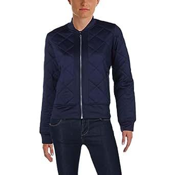 Lauren Ralph Lauren Womens Quilted Zip Jacket Navy XS