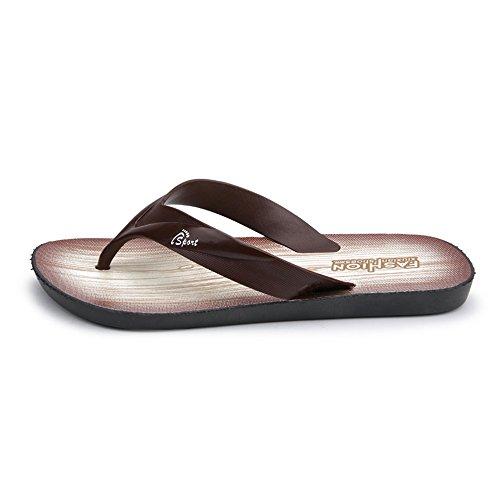 Sandalo EU 44 shoes classico Nero Xujw uomo da Marrone Dimensione infradito Sandali con da infradito infradito 2018 Uomo Color qBXXawx1
