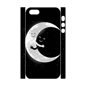 Cute Moon Custom 3D Case for Iphone 5,5S, 3D Personalized Cute Moon Case