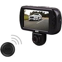 BOYO VTR217GW Dual Full HD 2 Channel Dash Camera Recorder (Front 1440X1080/Rear 1280X720) LCD:3 TFT High Resolution