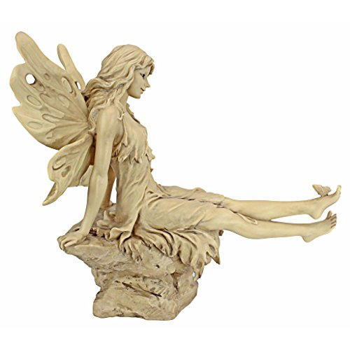- Design Toscano Twinkle Toes Fairy Garden Statue, 13 Inch, Polyresin, Ancient Ivory