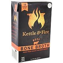 Kettle & Fire Beef Bone Broth (1) 16.2 Ounce Shelf-Stable Carton, 100% Grass-Fed, Organic Collagen-Rich Beef Bone Broth, Gluten-Free, Paleo-Friendly