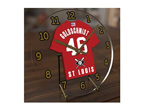 FanPlastic M L B Baseball Jersey Themed Clock - All National League Team Colours - Our Very OWN 'Let's GO' Range of Clocks !! (Let's Go Cards Edition)