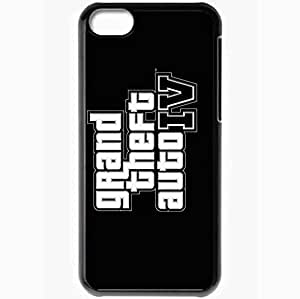 Personalized Case For Ipod Touch 4 Cover Cell phone Skin Gta 4 Grand Theft Auto 4 Logo Black