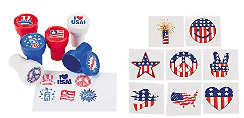 Nikki's Knick Knacks Patriotic Stampers and Tattoos- 96 Piece Set]()