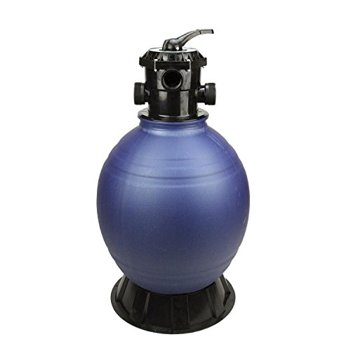 22'' High Performance Top-Mount Pool and Spa Sand Filter with 6-Way Valve - 220 lbs. Sand Required by Pool Central
