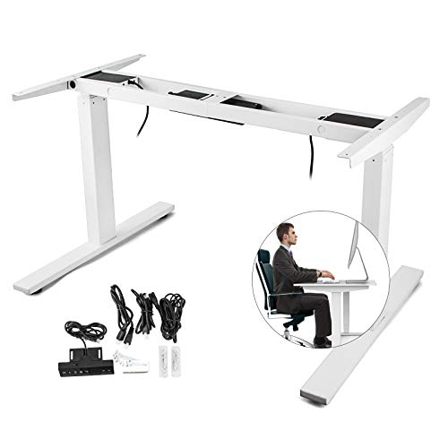 - Happybuy Dual Motor Electric Standing Desk Frame Height Adjustable Sit Stand Up Desk Leg 264LB Capacity DIY Workstation Base 47.2