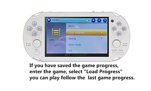 JXD new 4.3 inch 8GB build in 1200+ games for Arcade NEOGEO/CPS/FC/SFC/GBA/GBC/GB/SMC/SMD/SEGA Handheld Game Console Video Game Console game Player MP3 MP4 MP5 (Blue) by JXD (Image #5)