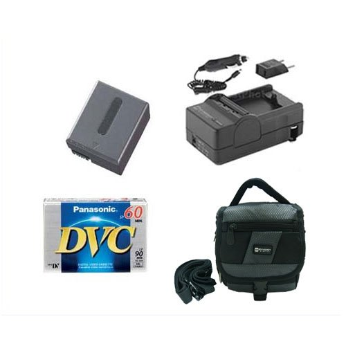 Sony DCR-IP5E Camcorder Accessory Kit includes: SDM-102 Charger, SDNPFF70 Battery, SDC-27 Case, DVTAPE Tape/Media ()