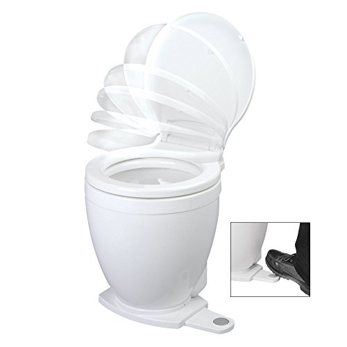 Jabsco 58500-0012 Lite Flush Marine Toilet, Electric Head, Foot Switch, 12 Volts