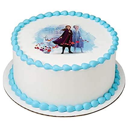 Cool Frozen 2 Elsa Anna And Olaf Edible Image Cake Topper Decoration Funny Birthday Cards Online Elaedamsfinfo