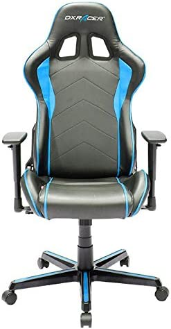 DXRacer OH/FH08/NB Formula Series Black and Blue Gaming Chair - Includes 2 Free Cushions and on Frame