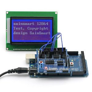 SainSmart MEGA, ATmega2560 + 12864 128x64 Graphic Blue LCD Display