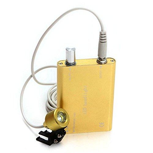 Denshine® Portable Yellow LED Head Light Lamp for Dental Surgical Medical Binocular Loupe (Yellow)