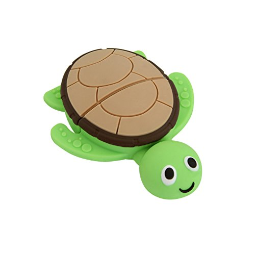 Funnyusb USB 3.0 64GB Cartoon Animal Sea Turtles Shape Flash Drive Super Speed Pendrive Memory Flash Stick Drive Pen Thumb Stick Drive Cartoon Pendrive Dlash Sisk U Disk(Light Green) (Disk Usb Backup)