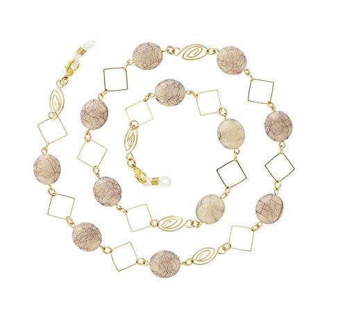 Beaded Eyeglass Chain Holder, Gold Fashion Lanyard Necklace, Cali - ()