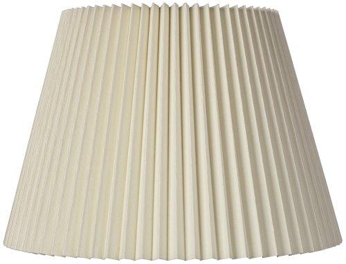Ivory Linen Knife Pleat Lamp Shade 9x14.5x10